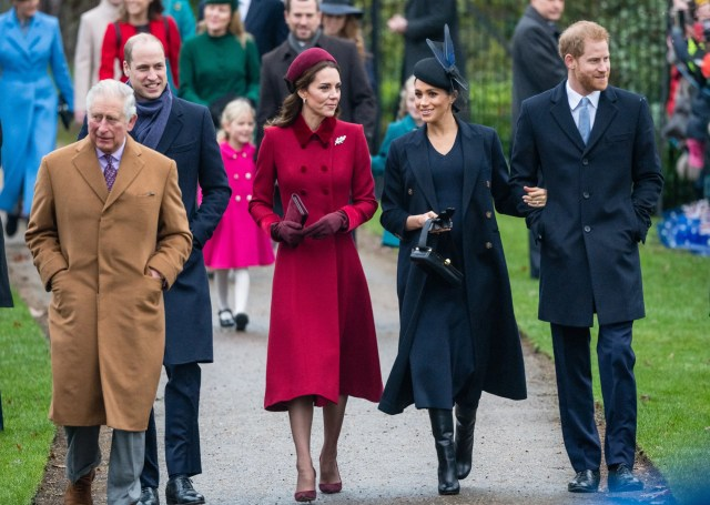 Royal family Christmas Sandringham Prince Charles William Harry Kate Middleton Meghan Markle