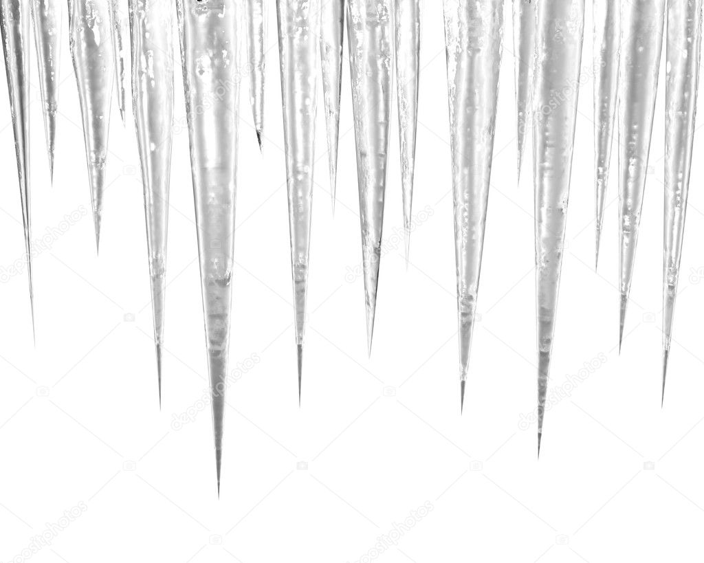 Icicles On The White