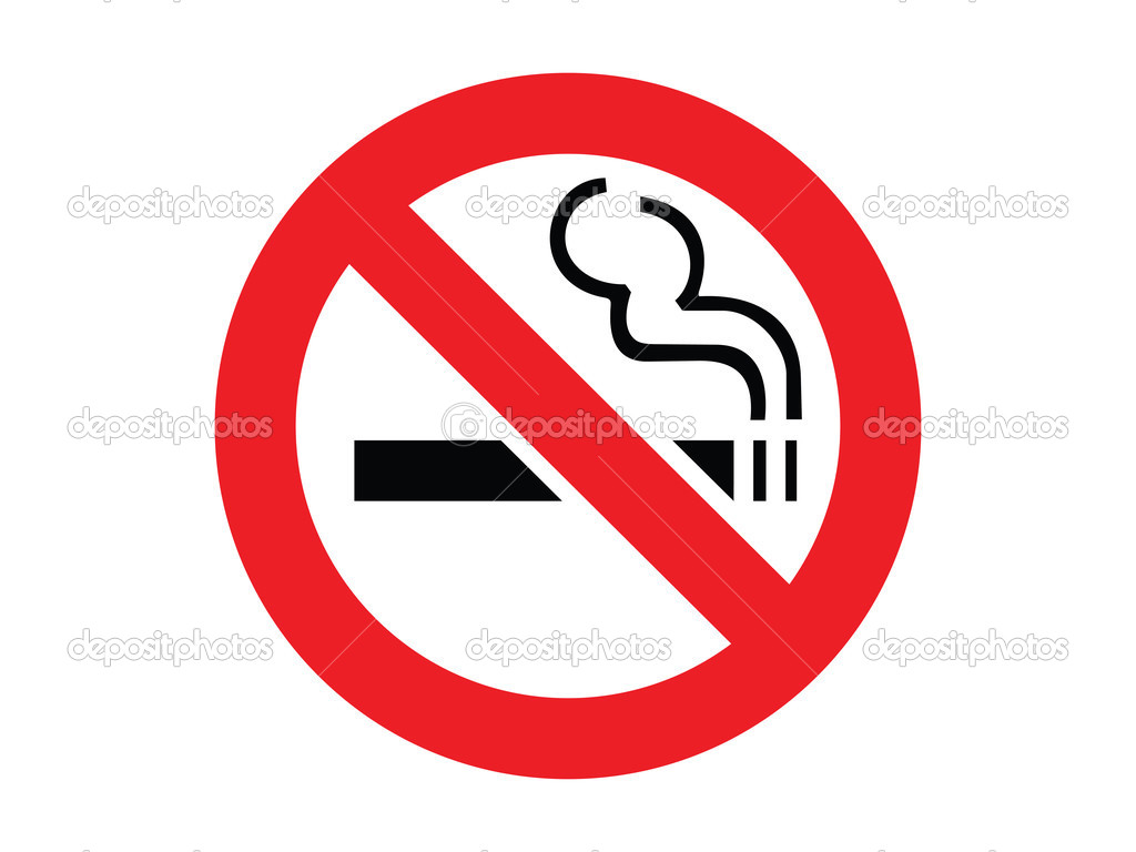 smoking sign coloring page