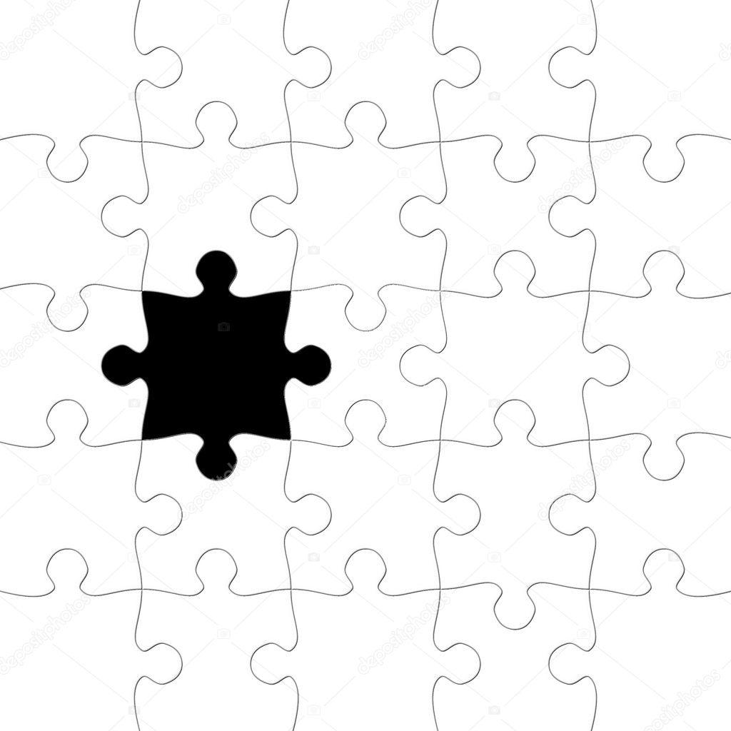 Siyah Eksik Parca Puzzle