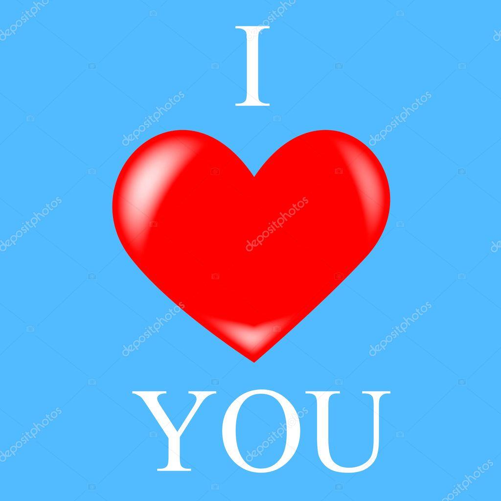 I Love You Heart Stock Photo Ufastudio 1367142