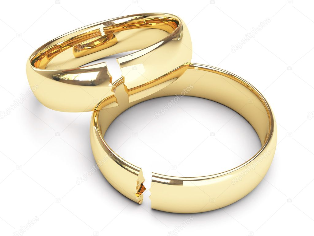 Broken Gold Wedding Rings Stock Photo Sprinter81 1508472