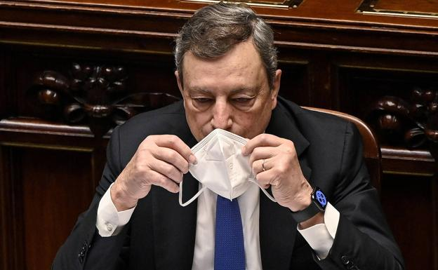 Mario Draghi, during his speech on Tuesday at the Council of Europe.