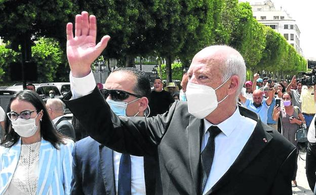 Kaïes Saied, President of Tunisia, in an image from August 1.