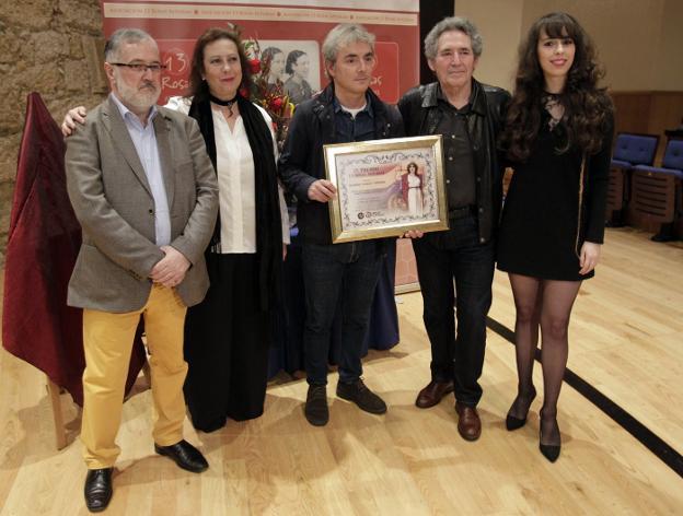 Maximino Candanedo, Laura Díez, Ramón García Piñeiro, Miguel Ríos y Carolina Lasheras. / MARIO ROJAS-