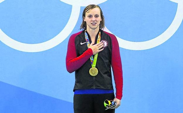 Ledecky took four gold medals in Rio.