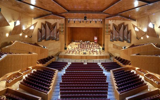 View of the Euskalduna auditorium that hosts the ABAO operas.