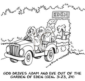 Image result for Adam Eve and God in a car