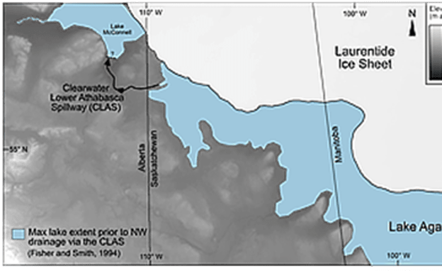 Lake Agassiz had an area of more than one and a half million square kilometers.
