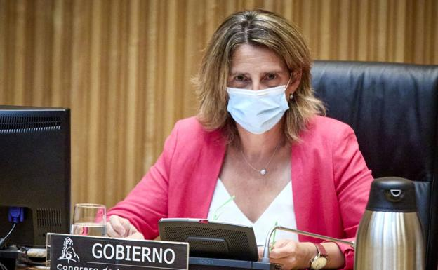 The Minister for the Ecological Transition, Teresa Ribera, last Monday.