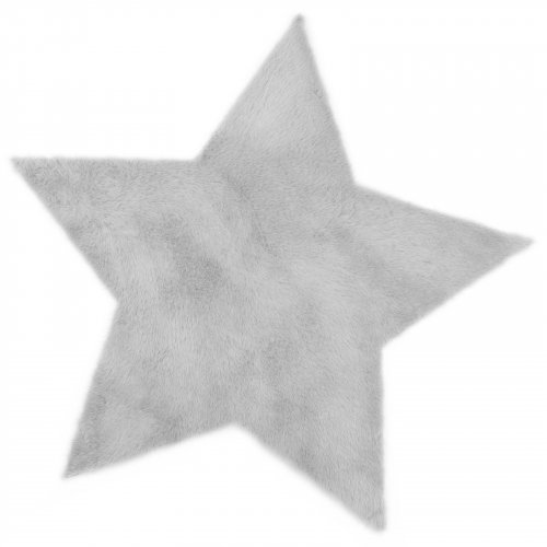 tapis etoile gris clair