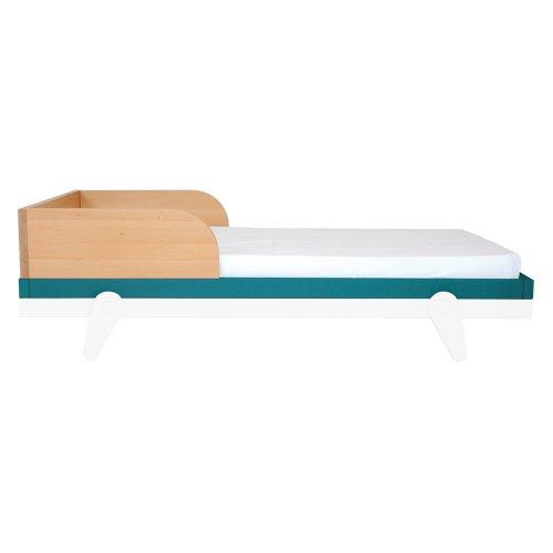 barriere pour lit bebe 70 x 140 cm petipeton bleu canard
