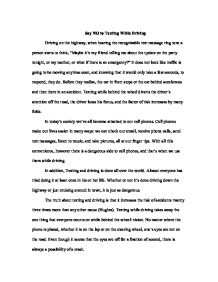 persuasive essay on texting while