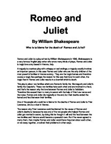 romeo and juliet whos to blame essay prompt