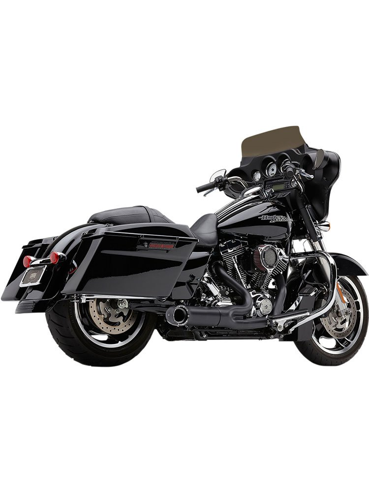 turnout 2 into 1 exhaust system cobra harley davidson road king classic electra glide classic ultra classic low cvo ultra limited low street