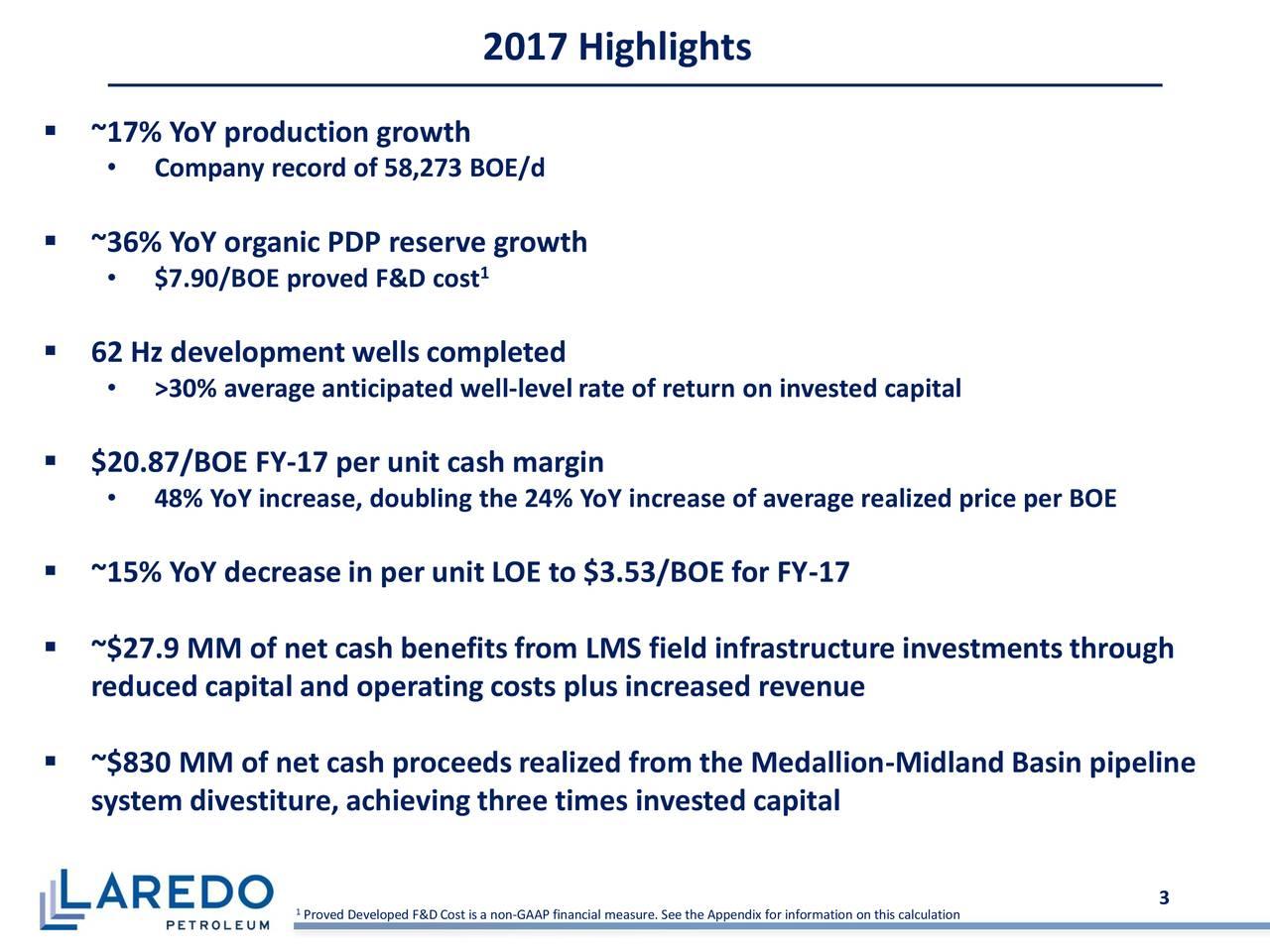 Laredo Petroleum Holdings, Inc. 2017 Q4