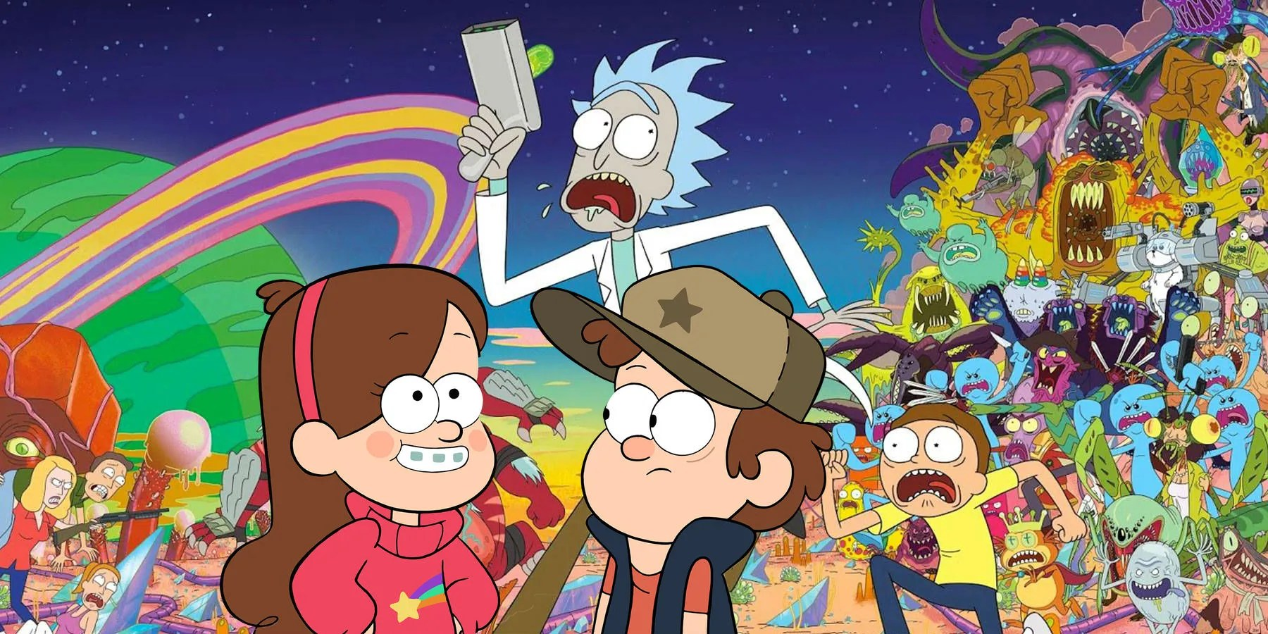 10 Gravity Falls Easter Eggs Hidden In Rick And Morty