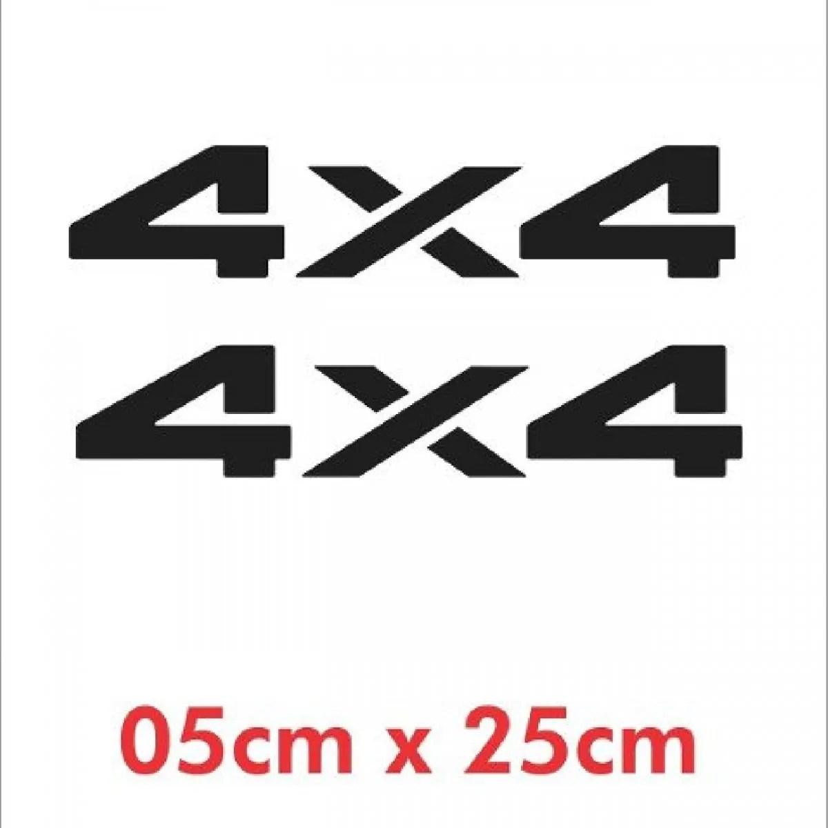 Emblema Adesivo 4x4 Jeep Willys Renegade Cherokee D9