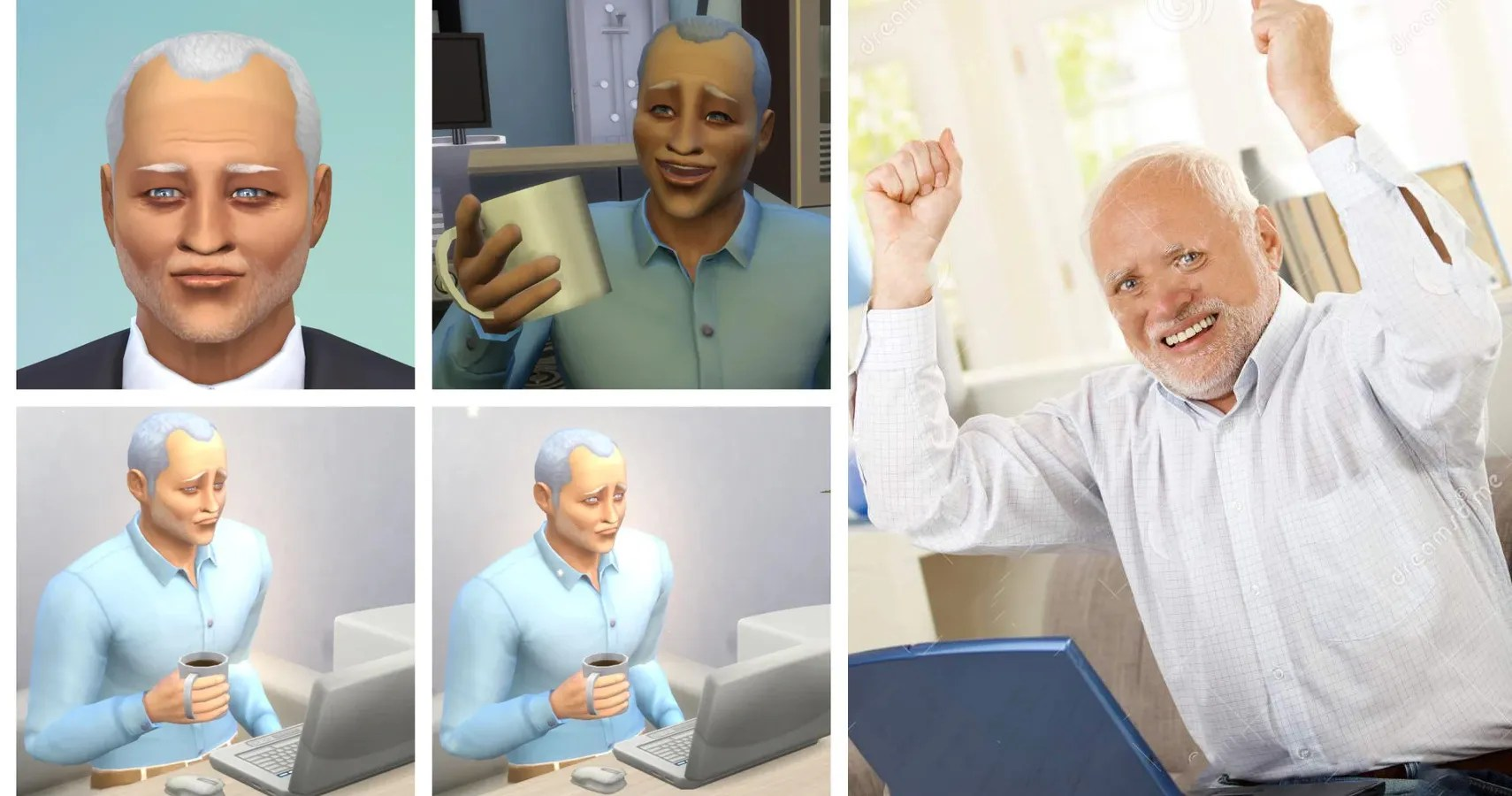 Redditor Creates Hide The Pain Harold In The Sims Thegamer