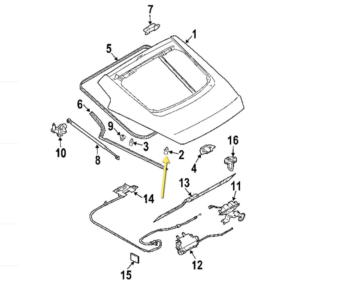 350z Oem Nissan Deck Lid Stop Buffer