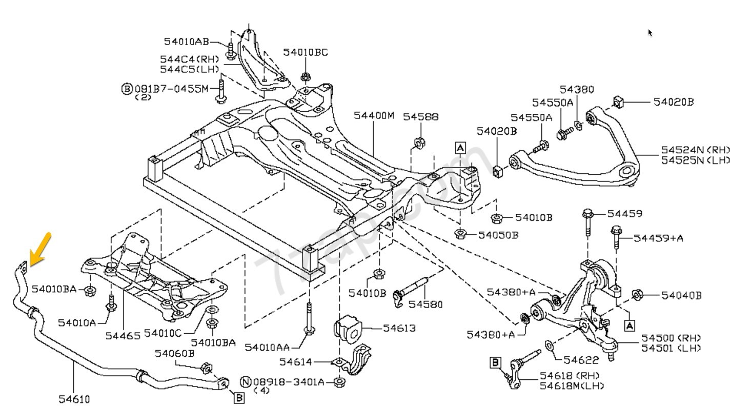 370z Nissan Oem Stabilizer Assy Front