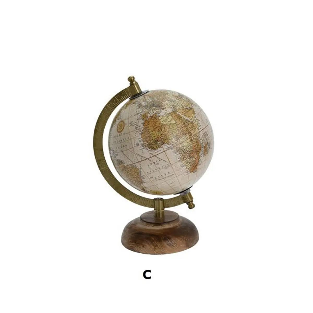 Földgömb fa talpazaton 13 cm Földgömb