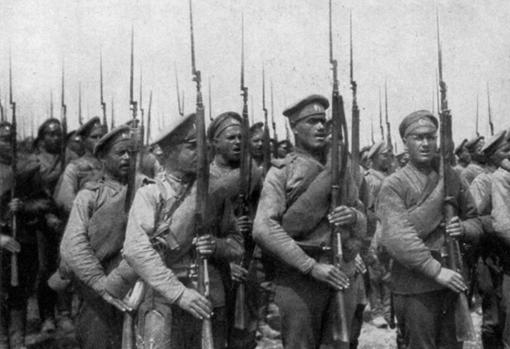 Russian troops in the First World War