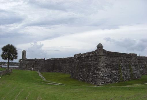 Vista del Castillo de San Marcos en San Agustín (Florida)