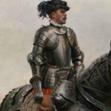 Hernán Cortés, por Ferrer-Dalmau.