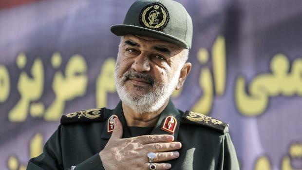 El comandante en jefe de la Guardia Revolucionaria iraní, Hosein Salamí