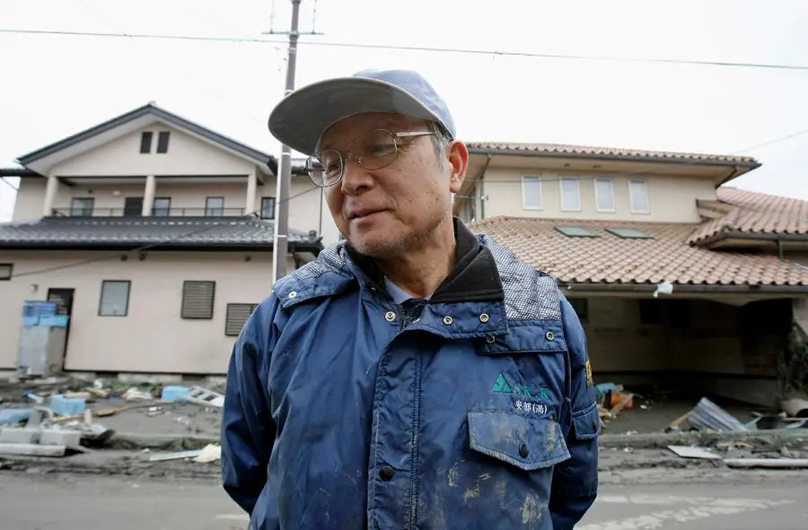 A port worker in a coastal city close to the Fukushima plant hopes to rebuild his home