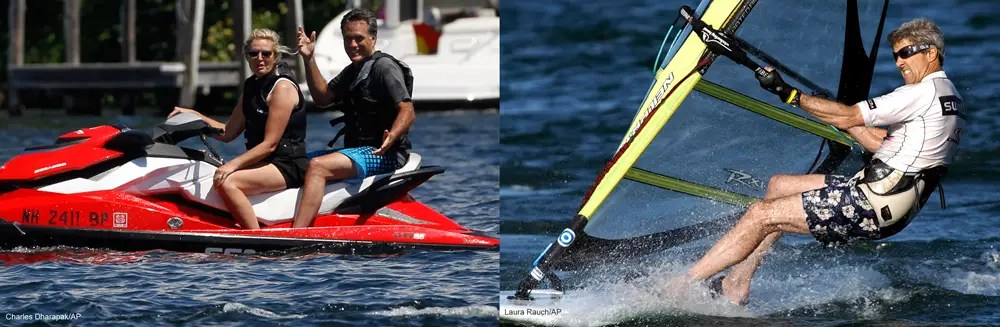 Both have gotten into trouble because of their love for water sports.