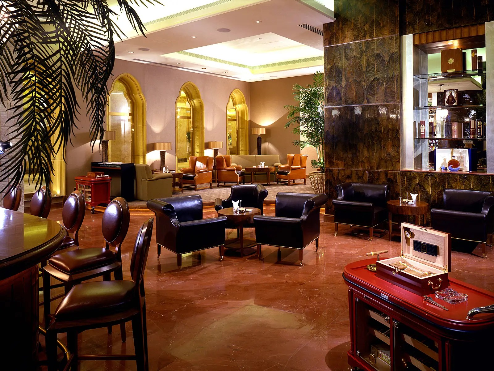 Or for the more old-school guest, the Havana Club boasts the finest cognacs, armagnacs, and cigars.