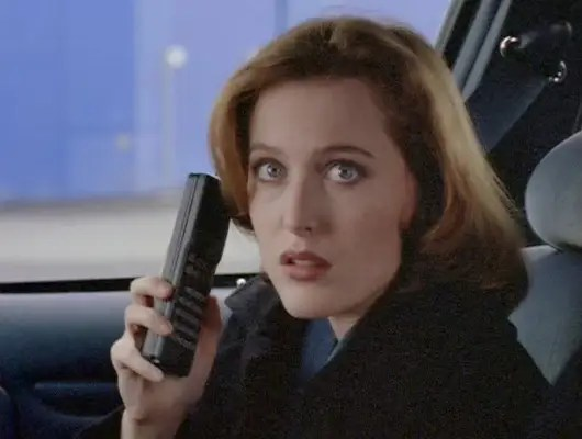 """1993-2002: Dana Scully's cell phone in """"The X Files."""""""