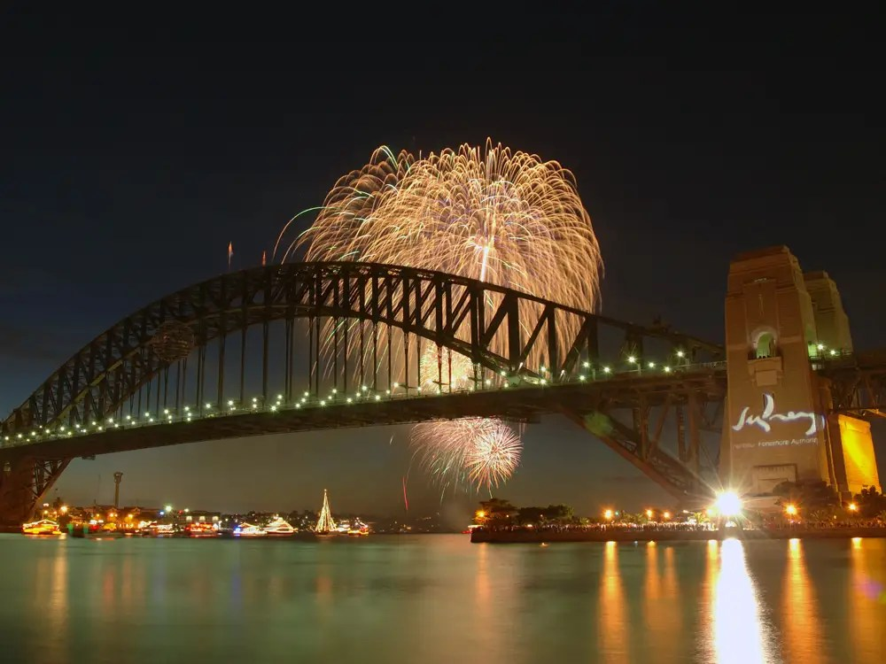 Spend New Year's Eve watching the fireworks show over Sydney Harbour.