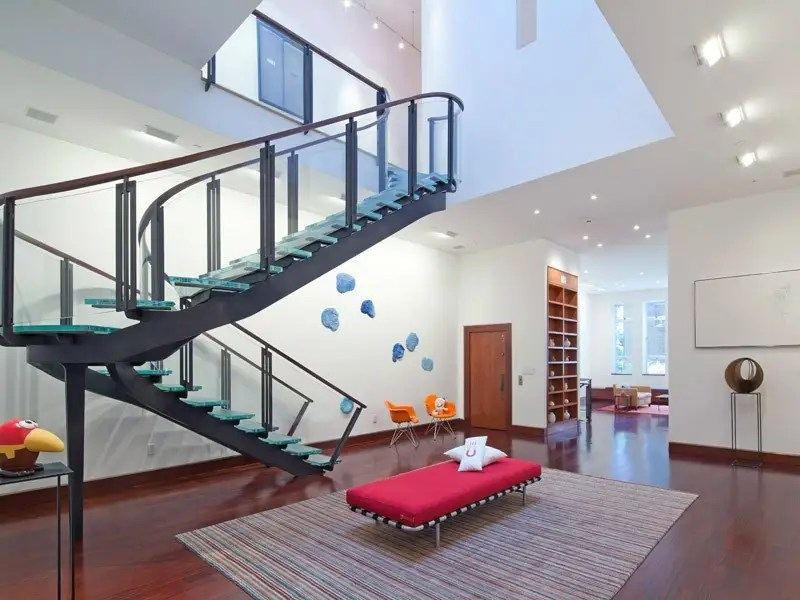 #11 This six-level townhouse in New York was built in 1887 and had 12,000 square feet of space, a glass-and-steel staircase, and a home gym with an indoor lap pool. It was listed in May for $37 million, though the price has since been reduced.