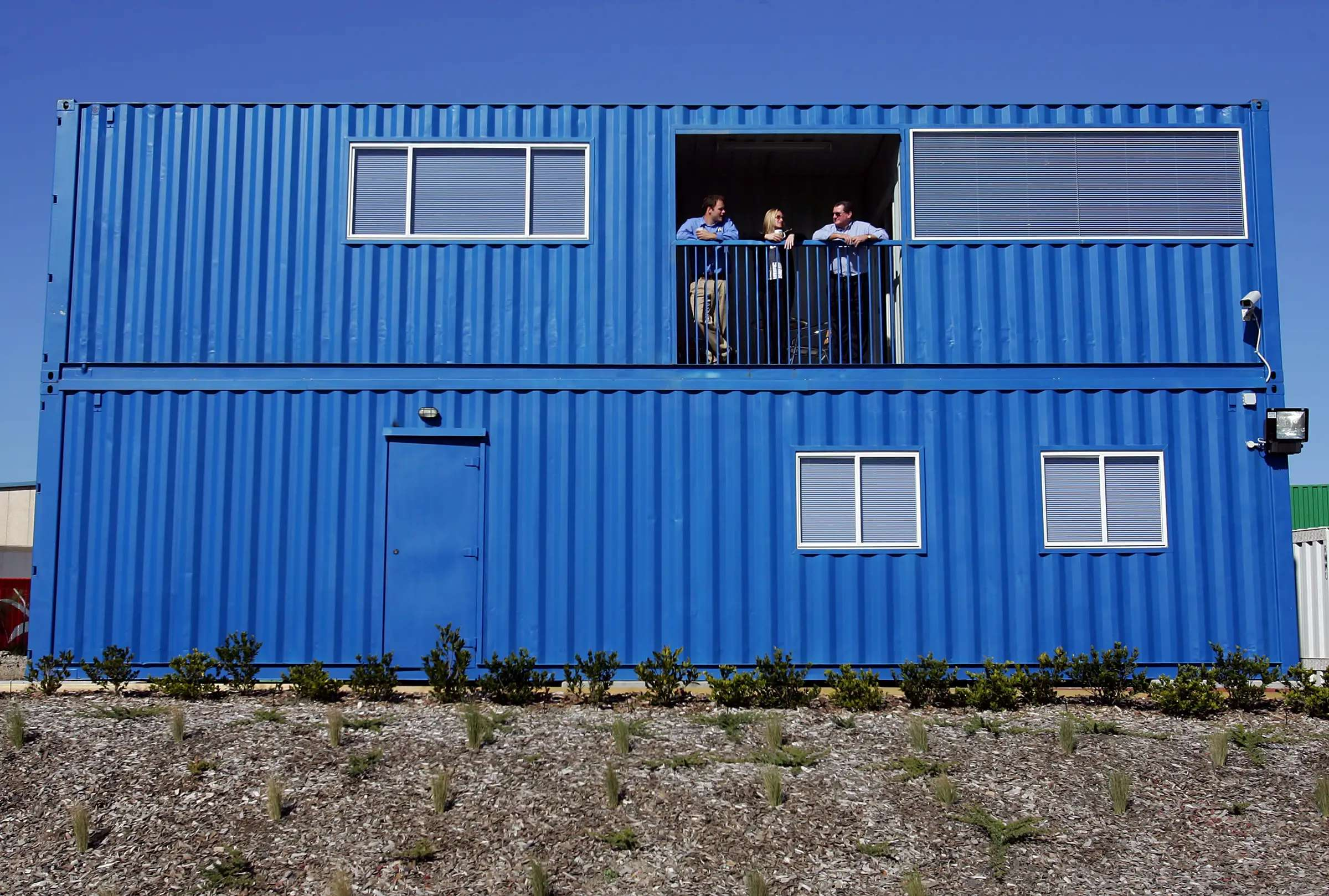 This three-bedroom home was made from four shipping containers in Sydney. It was priced at $130,000, and has two bathrooms, timber floors, a kitchen, laundry room, and can be pulled apart and transported if need be.