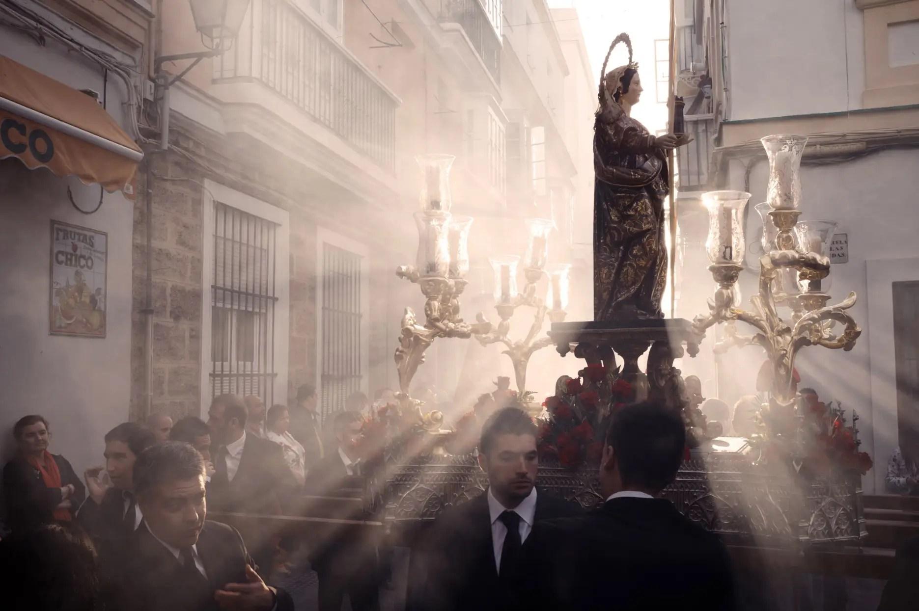 Religious procession in Cadiz, Spain