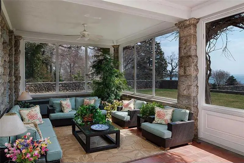 Or you could relax on the screened porch with even more panoramas of Long Island Sound.