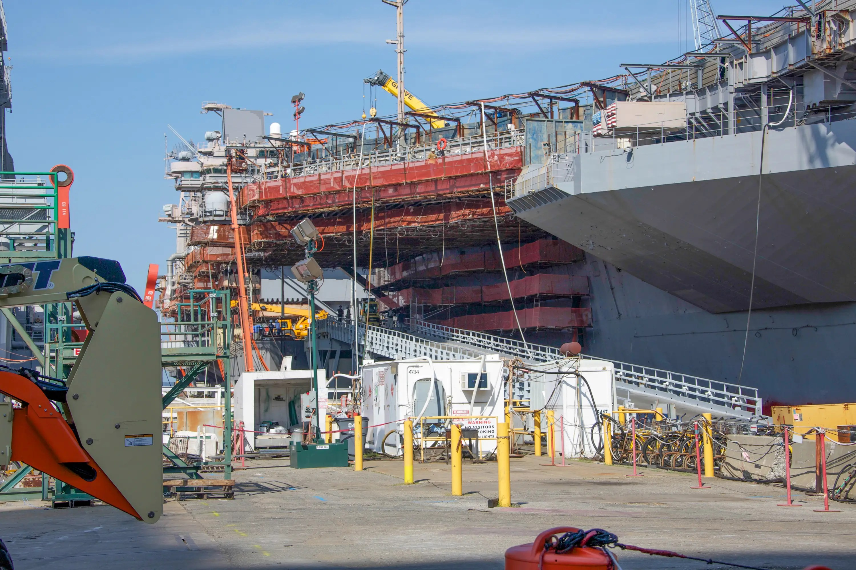 The bottom line is, civilian and Navy coexist here in a world fully dedicated to producing the most powerful machinery for the most powerful navy in the world.