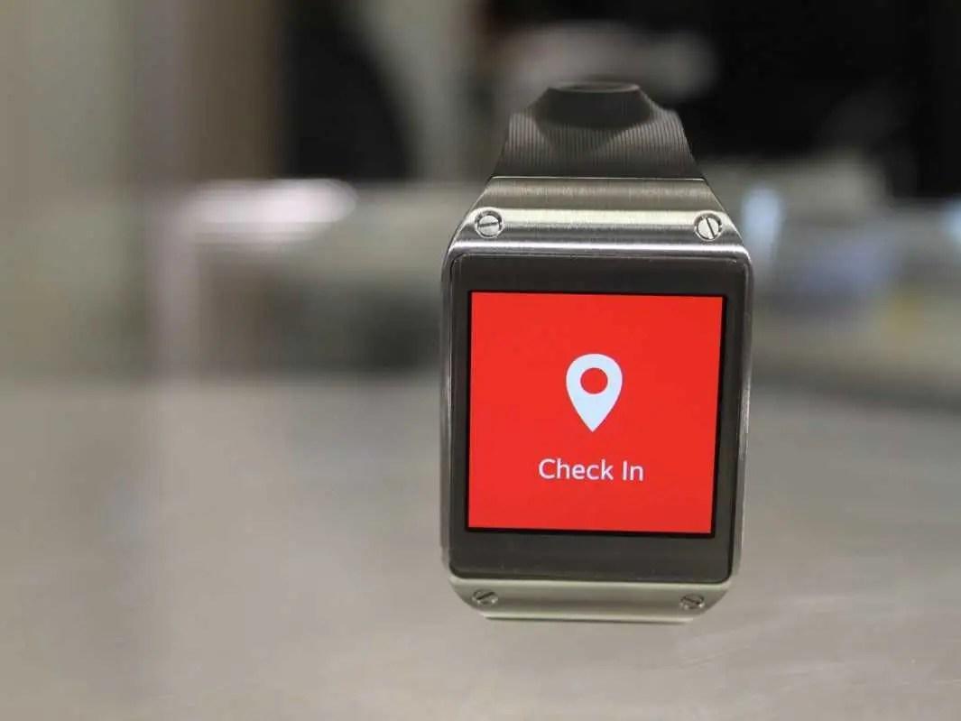 Samsung Galaxy Gear path app check in