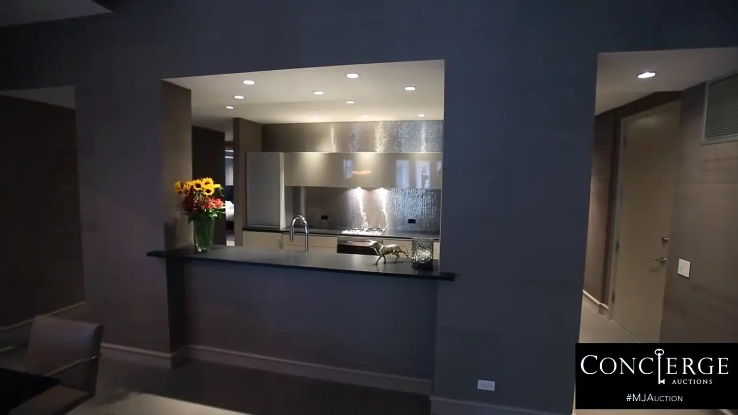 The guest house kitchen.