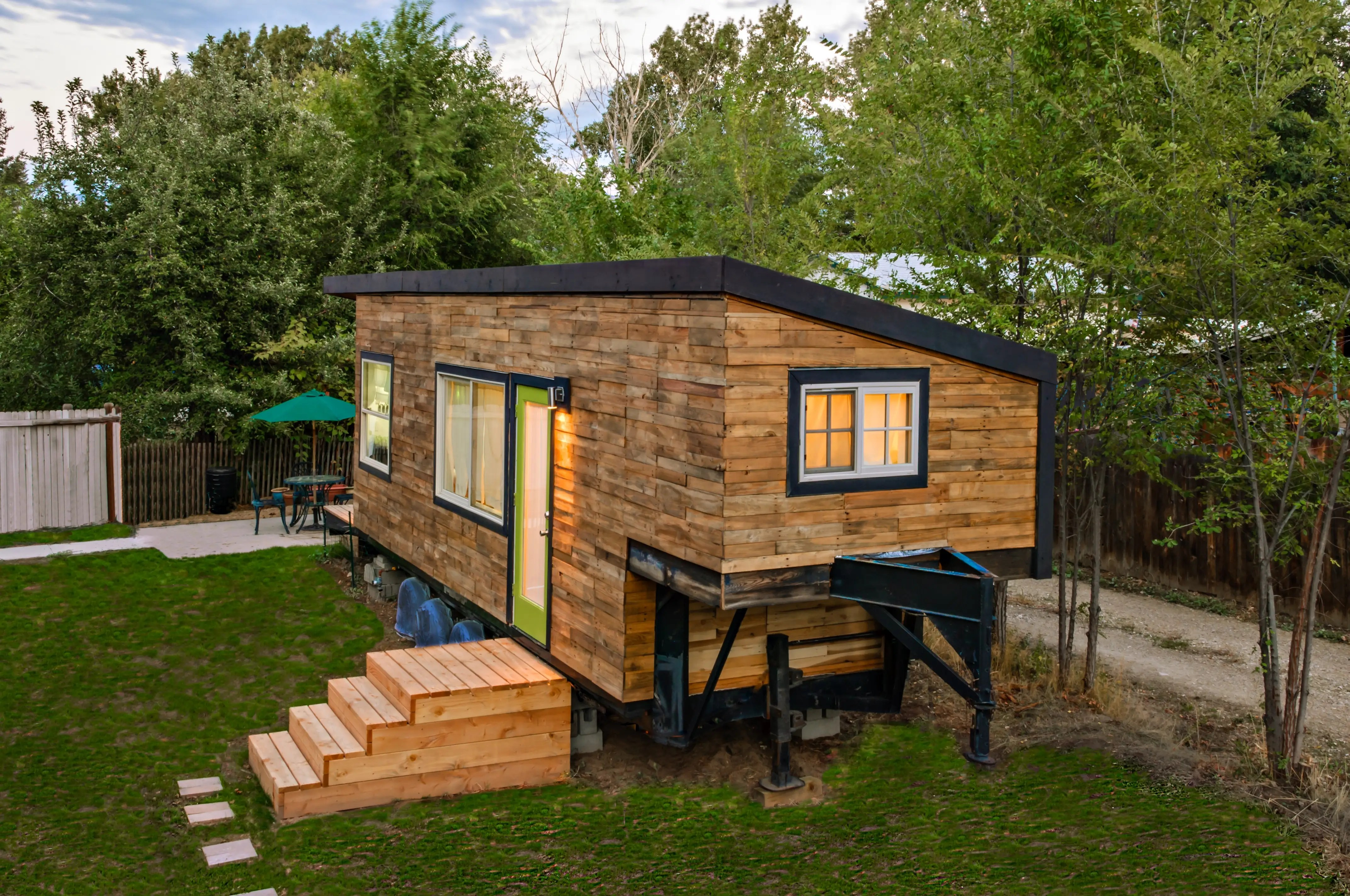 While she owns her tiny home outright, she pays to rent the land it sits on.