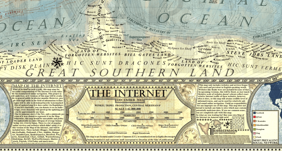 map of internet 1.0