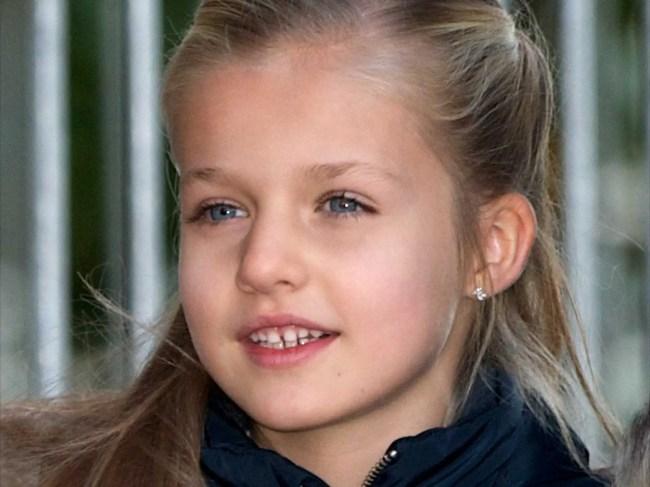 AGE 8: Infanta Leonor of Spain
