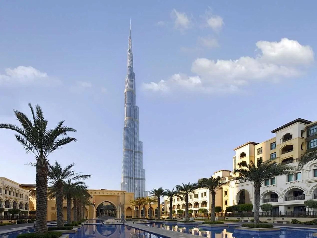 The Burj Khalifa in Dubai, UAE, is the world's tallest building, standing at 2,717 feet.