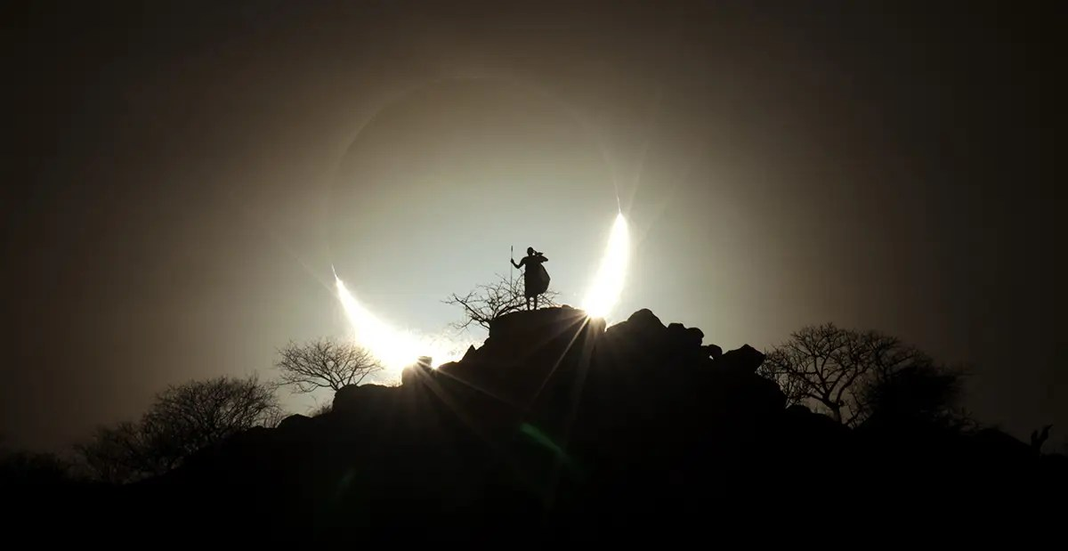 The winner of that category, though, was this epic picture by Eugen Kamenew of a rare hybrid solar eclipse, which only happens every 160 years.