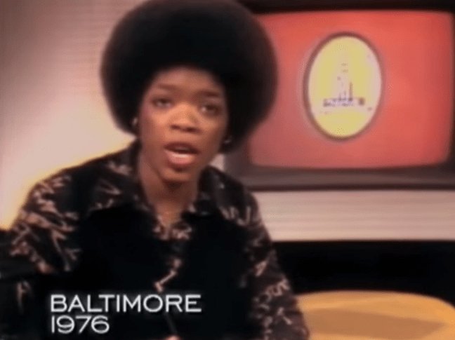 Oprah Winfrey was co-hosting a local talk show in Baltimore