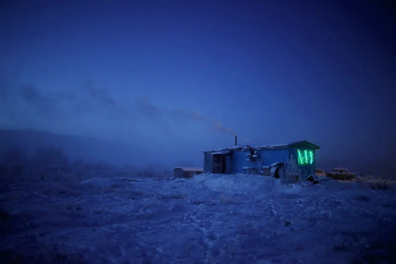 """Chapple was stranded for two days in a tiny, isolated guest house known as """"Cafe Cuba"""" (seen below), located in the frozen wasteland along the road. He survived on reindeer soup and hot tea while waiting for another car to pick him up and finish the journey."""
