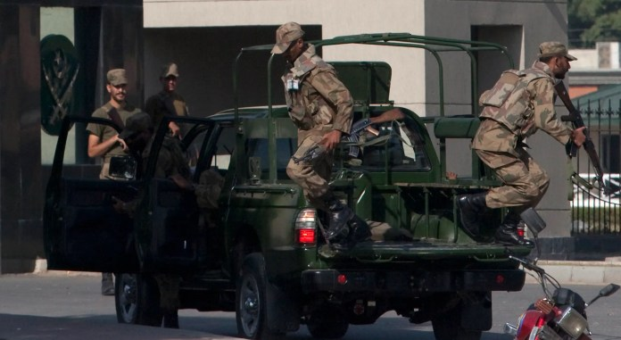 In October 2009, SSG commandos stormed an office building and rescued 39 people taken hostage by suspected Taliban militants after an attack on the army's headquarters.